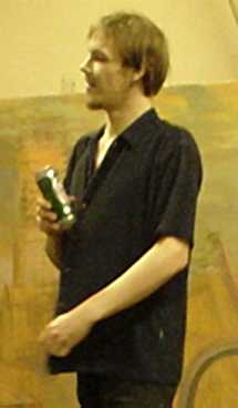 A picture of myself with a can of beer ....